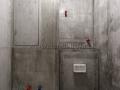 Сантехнический шкаф после штукатурки