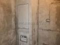 Угловой сантехнический шкаф из пеноблоков