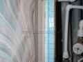 Одинаково криво выведенные водорозетки для полотенцесушителя
