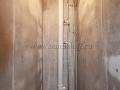 Штукатурка стен внутри в туалете, замена канализационного стояка, покраска ГВС, ХВС