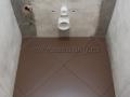 Укладка керамогранита по диагонали в туалете